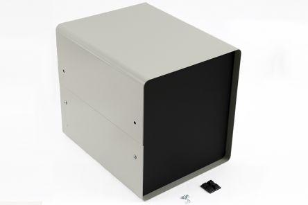 Aluminium & Steel Project Box, Black & Grey, 356 x 203 x 229mm product photo