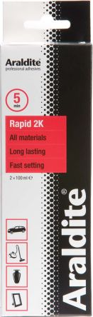 Epoxy Rapid, 100 ml Orange, White Tube Epoxy Adhesive for Cardboard,  Ceramic, Chipboard, Dry Concrete, Fabric, Glass,