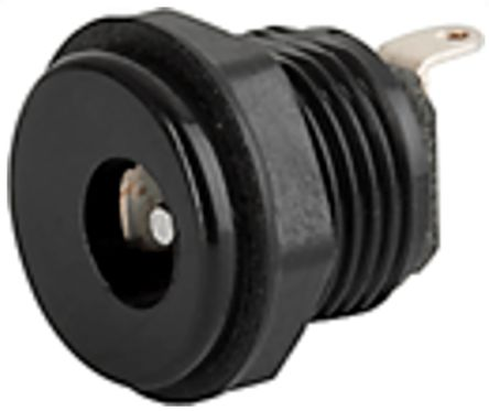 Screw On Mount DC Power Socket 4840 Series, 2.35mm 1A product photo