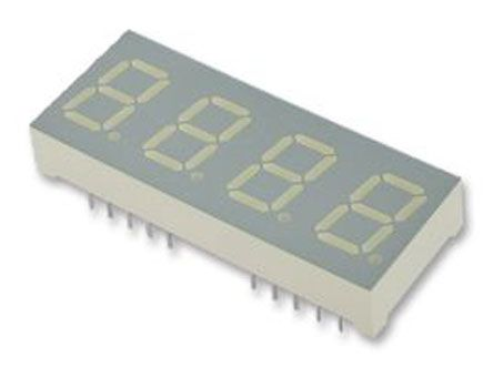 CC04-41CGKWA 4 Digit 7-Segment LED Display, CC Green 24 mcd RH DP 10.2mm product photo