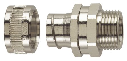 Straight, Swivel Cable Conduit Fitting, Brass Nickel Plated 32mm nominal size IP40 M32 product photo