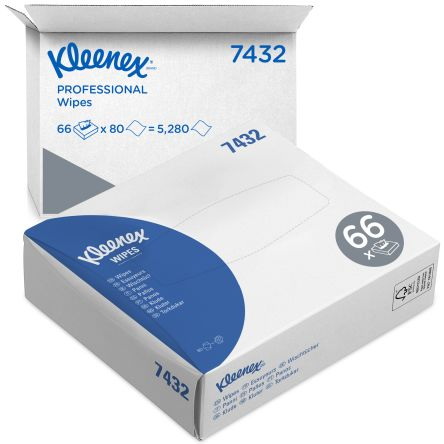 Kimberly Clark White Medical Wipes Wipe, 5280 Per Package 110mm, X 185mm