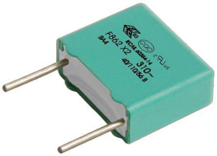 KEMET 470nF Polypropylene Capacitor PP 310V ac ±10% Tolerance Through Hole F862 Series