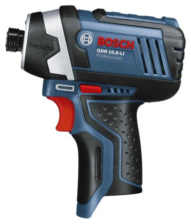 Bosch 10.8V Cordless Impact Drill, 1/4in Hex Chuck, 2Ah Battery Capacity