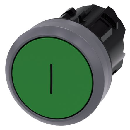 Matte Metal 22mm Green Siemens Industry 3SU1030-0AB40-0AC0 Siemens 3SU10300AB400AC0 Pushbutton IP66 Plastic with Metal Front Ring IP69K Protection Rating IP67