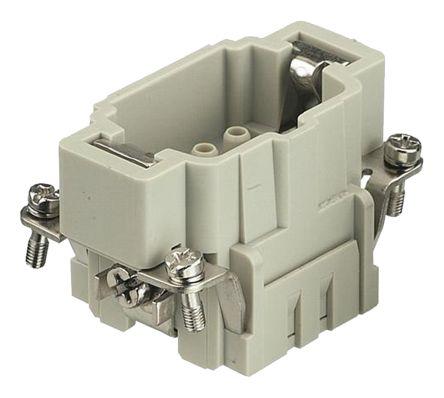 Han E HMC Series size 6 E Connector Insert, Male, 6 Way, 16A, 500 V
