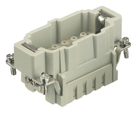 Han E HMC Series size 10 E Connector Insert, Male, 10 Way, 16A, 500 V