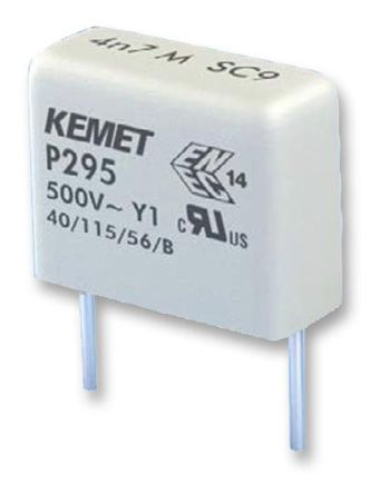 KEMET Paper Capacitor 4.7nF 500V ac ±20% Tolerance P295 Through Hole +115°C