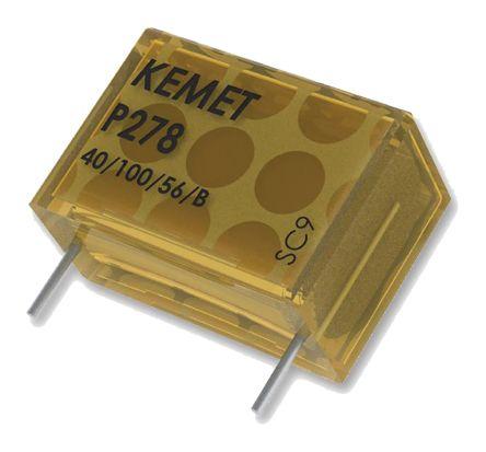 KEMET Paper Capacitor 1nF 480V ac ±20% Tolerance P278 Through Hole +110°C