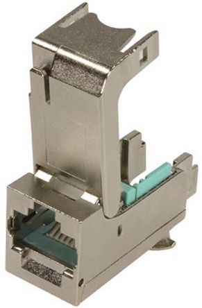 Harting Cat6a RJ45 Right Angle RJ Socket Module Keystone Module, Ha-VIS preLink Series