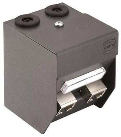 Harting Cat6EA RJ45 Junction Box, 2 Port Ha-VIS preLink Series