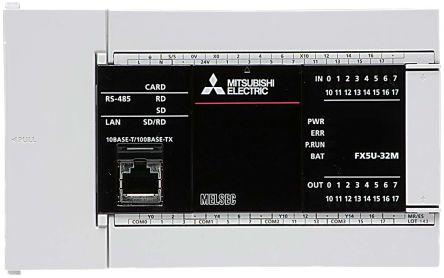 Mitsubishi FX5U PLC CPU, Inverter Communication, MELSEC Communication  protocol (3C/4C Frames), MELSOFT Connection,