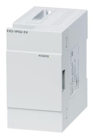 Mitsubishi PLC Power Supply FX5 Series FX5U CPU Module, FX5UC CPU Module,  100 → 240 V ac, 24 V dc, 5 V dc, 1 2 A