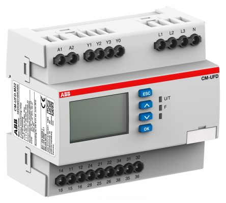 ABB Frequency, Voltage Monitoring Relay with SPDT Contacts, 1, 3 Phase, 24 → 240 V ac/dc