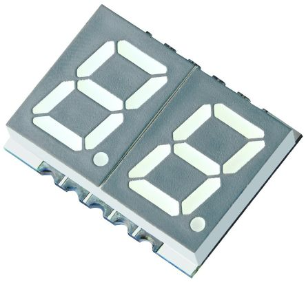KCDA39-105 2 Digit 7-Segment LED Display, CA Red 36 mcd RH DP 10mm product photo
