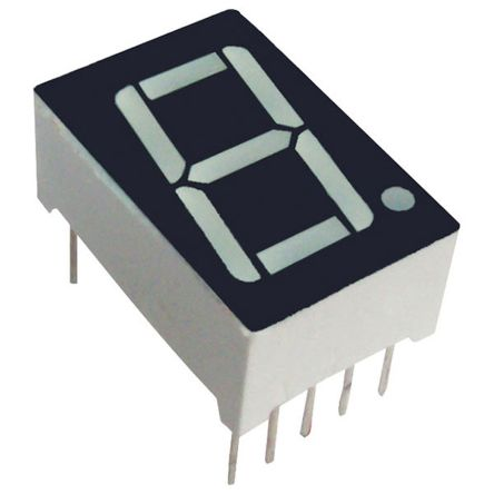 SC08-12SYKWA 7-Segment LED Display, CC Yellow 140 mcd LH DP 20.3mm product photo