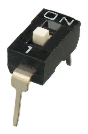 1 Way Through Hole DIP Switch SPST, Raised Actuator