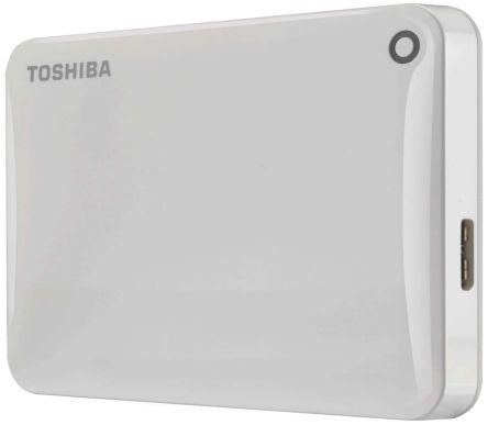 Toshiba Canvio Connect II White 500 GB Portable Hard Drive, HDTC805EW3AA