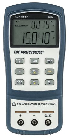 BK Precision BK878B Handheld LCR Meter 20mF, 10 MO, 1000H With RS Calibration