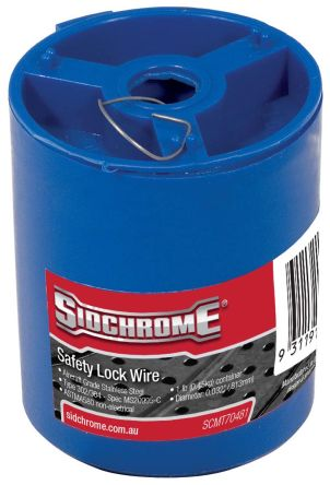 SCMT70480   Sidchrome Stainless Steel Safety Lock Wire   Sidchrome