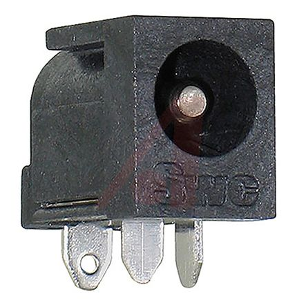 Switchcraft DC, Right Angle DC Power Plug Rated At 5A, PCB Mount, length 14.5mm, Nickel Plate