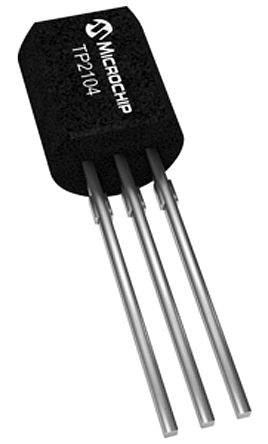 TP2104N3-G P-Channel MOSFET, 175 mA, 40 V, 3-Pin TO-92 Microchip