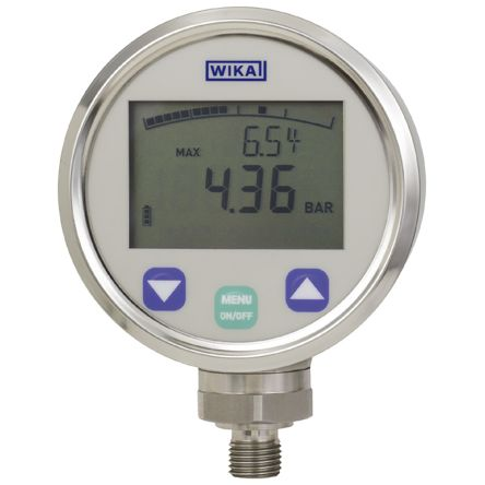 WIKA Bottom Entry Digital Pressure Gauge, DG-10-S