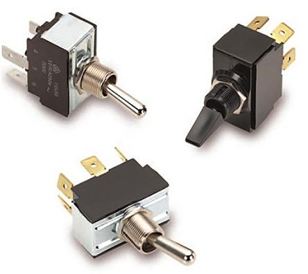 Carling Technologies SP3T Toggle Switch, On-On-On, Panel Mount