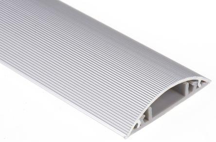 Rs Pro Grey Floor Trunking W50 Mm X D9 8mm L1m Aluminium Alloy Lid Pvc Base Rs Pro