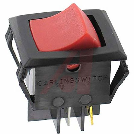 Carling Technologies Illuminated Double Pole Single Throw (DPST), Latching  Rocker Switch Panel Mount