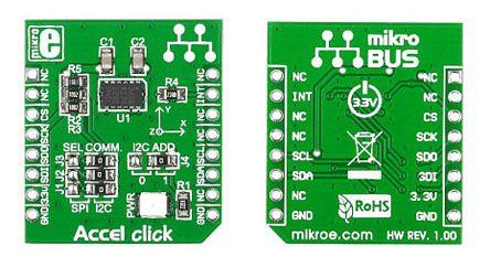 MikroElektronika MIKROE-1194, Accel click Accelerometer Sensor mikroBus  Click Board for ADXL345