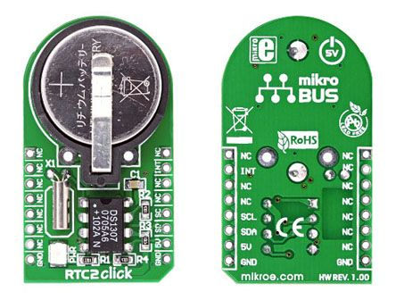 MikroElektronika MIKROE-948, RTC2 Real Time Clock (RTC) mikroBus Click Board for DS51307