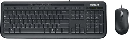 Microsoft Black Wired QWERTY (UK) Compact Keyboard and