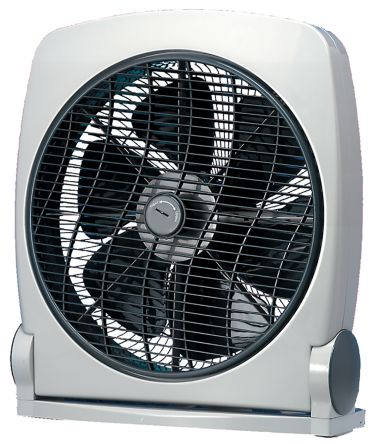 Vent-Axia Box Fan 355mm blade diameter 3 speed 230 V with plug: Type G - British 3-pin