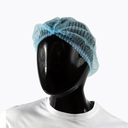 PAL Disposable Blue Hair Cap, Metal Detectable, One Size, for Food Industry Use