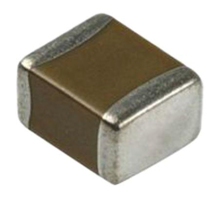 Condensador Cerámico Multicapa MLCC, Murata, 1μF, ±10%, 50V Dc, Montaje En Superficie, B Dieléctrico (100), GRM188B31H105KAALD