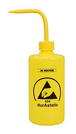 Bottle; 8 Oz.; Round Shape; Wash; Low Density Polyethylene; Yellow