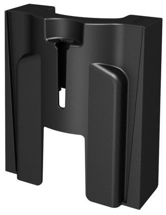 1 Black Barriers & Stanchion for use with Recycle Bin/Safety Dispenser and High Gloss/Glass Surface product photo