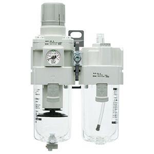 SMC G 1/2 FRL Assembly, Automatic Drain, 5μm Filtration Size
