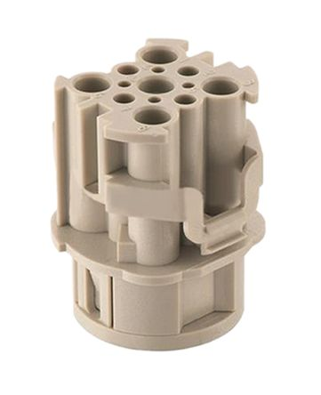 Han F+B Series size 16 A Connector Insert, Female, 4+4 Way, 16A, 400 V