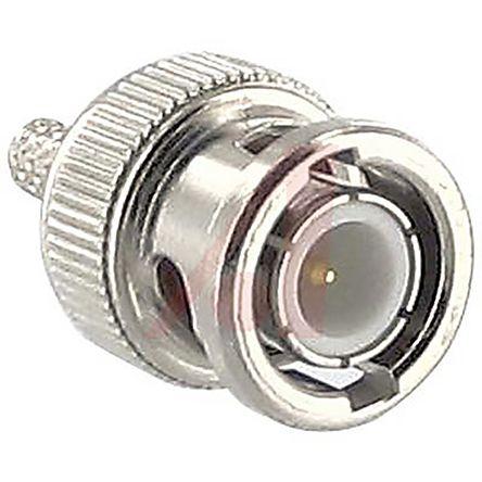 Straight 50O Cable Mount BNC Connector, Plug, Nickel, Crimp Termination, RG174, RG187, RG188, RG316 product photo