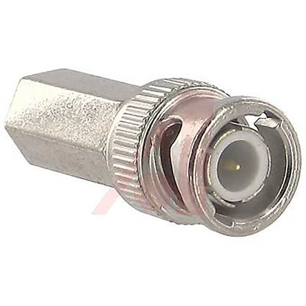 Straight 50O Twist-On BNC Connector, Plug, Nickel, Cable Termination, RG6 product photo