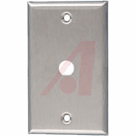 """Stainless Steel Silver Wall Plate 1/2"""""""