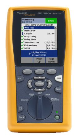 Fluke Networks LAN Test Equipment Cable Tester RJ45, DTX-1500