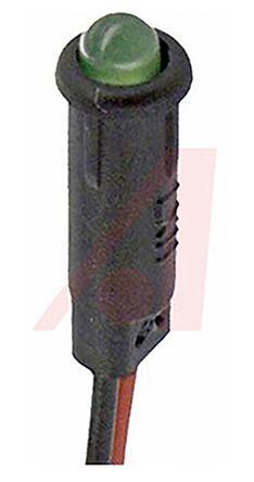 Lumex Panel Mount LED Indicator, 2.1 V - Colour(s):Green