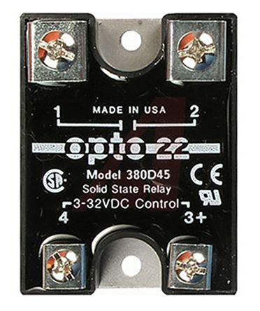 Opto 22 45 A Solid State Relay, AC, Screw Fitting, 380 V ac Maximum Load