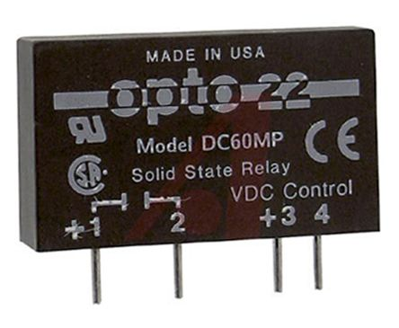 Opto 22 3 A Solid State Relay DC PCB Mount 60 V dc Maximum Load