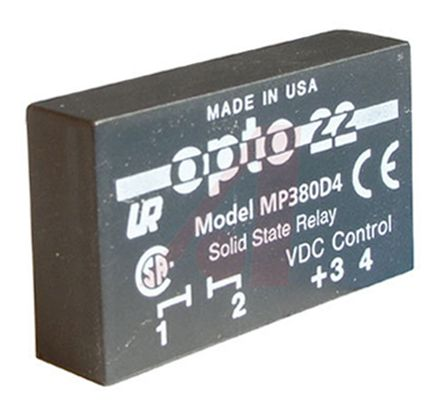 Opto 22 4 A Solid State Relay, AC, PCB Mount, 380 V ac Maximum Load