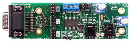 Matrix EB032, E-block Voice CODEC Audio Codec Evaluation Board for MC145483