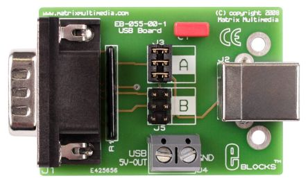 Matrix, E-blocks USB Interface Board, EB055